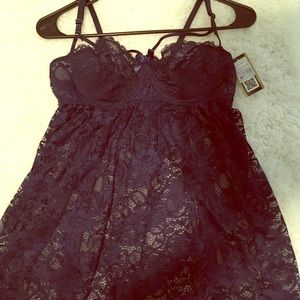 Other - NWT see thru lace nightie- navy blue